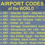 Airport codes of the world
