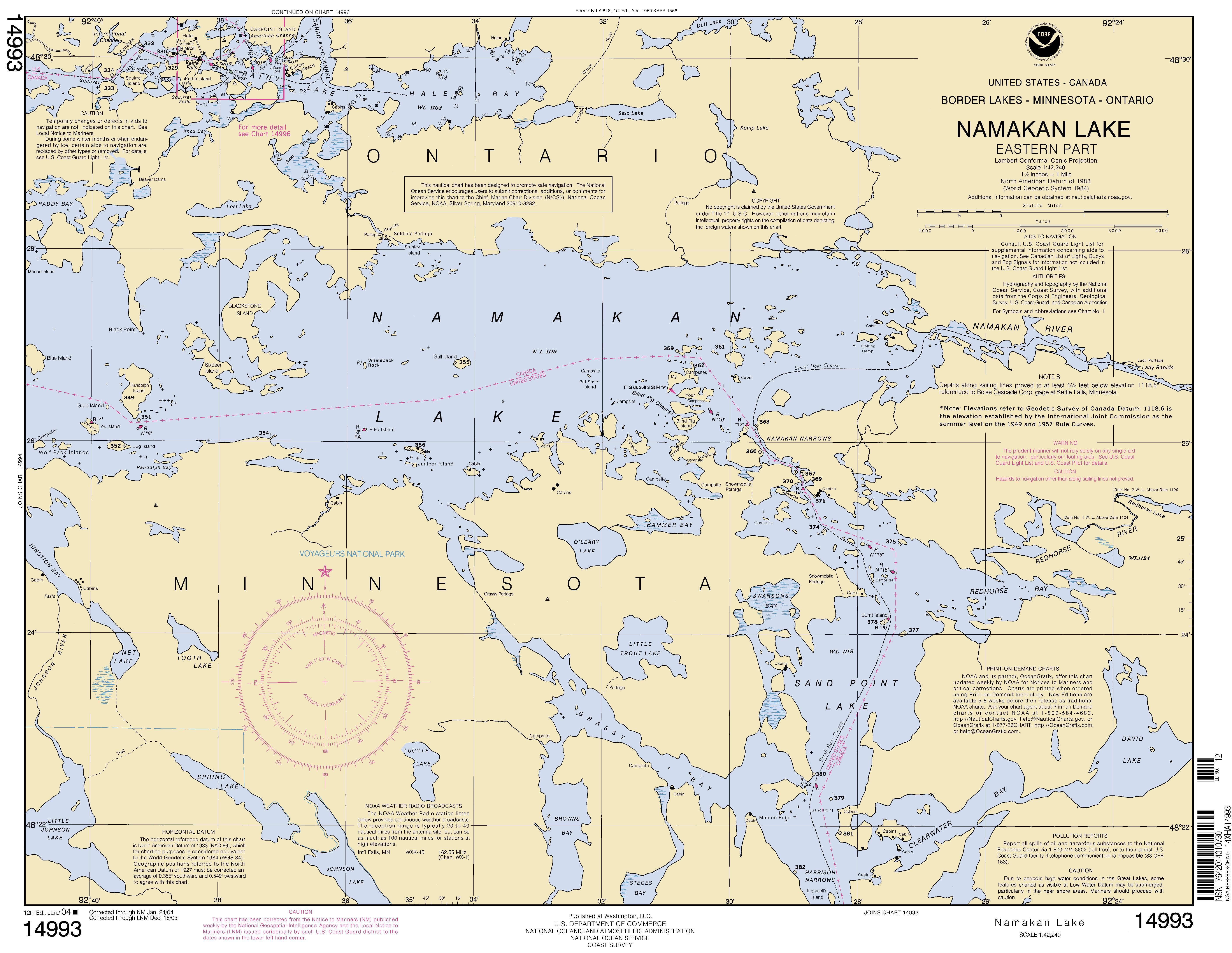namakan lake nautical chart -  u039d u039f u0391 u0391 charts