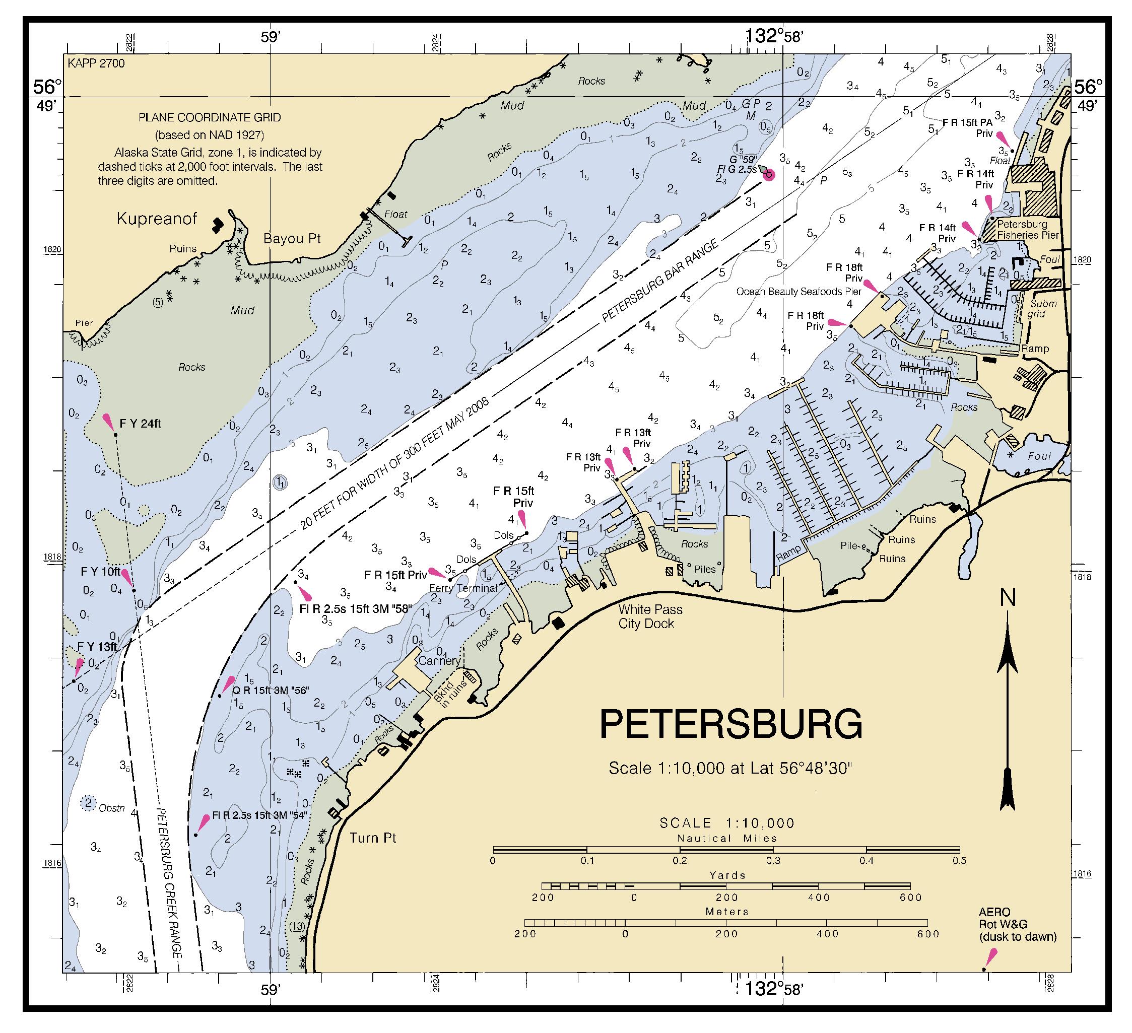 Petersburg Nautical Chart -  U039d U039f U0391 U0391 Charts