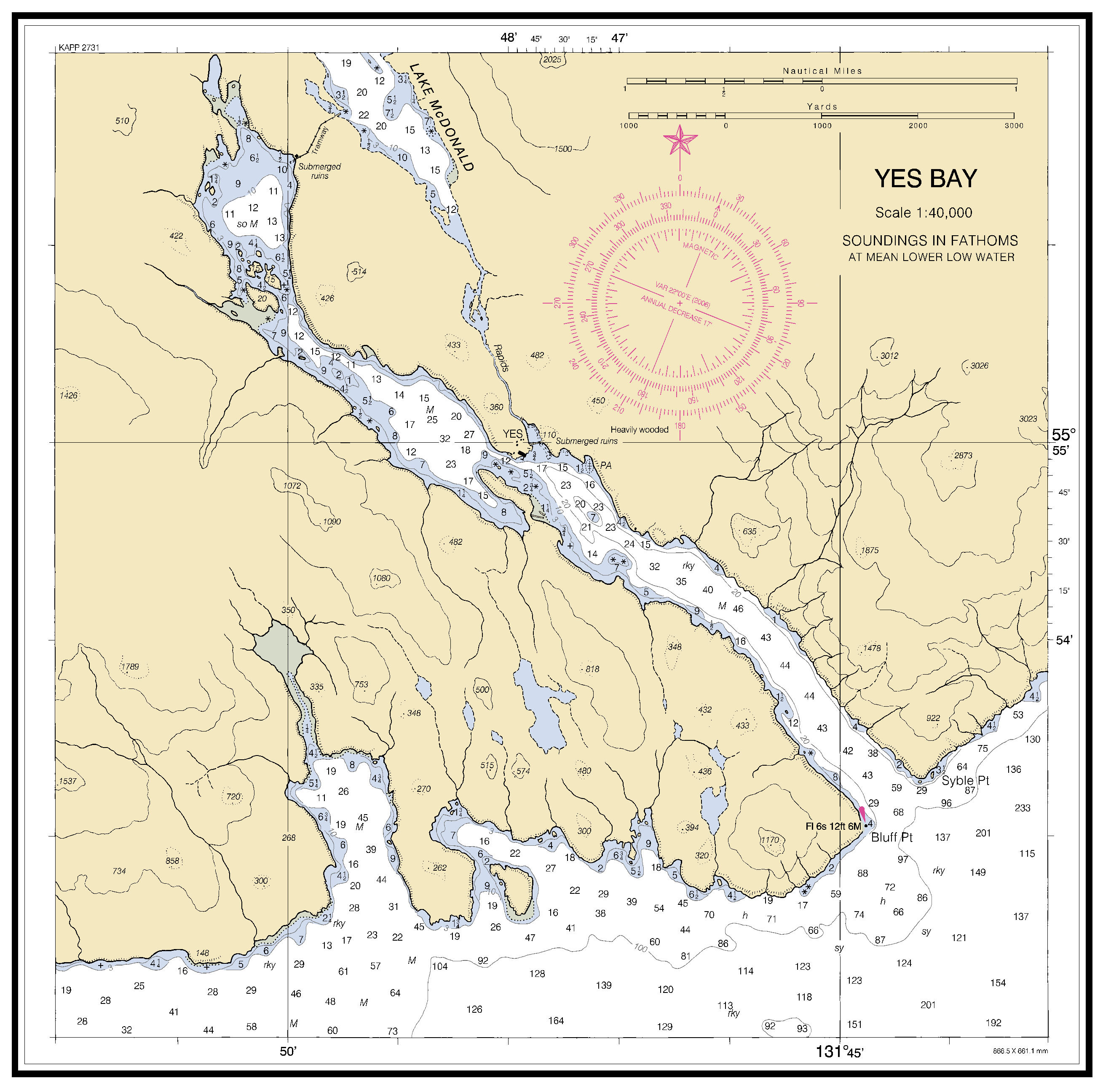 YES BAY nautical chart - ΝΟΑΑ Charts - maps
