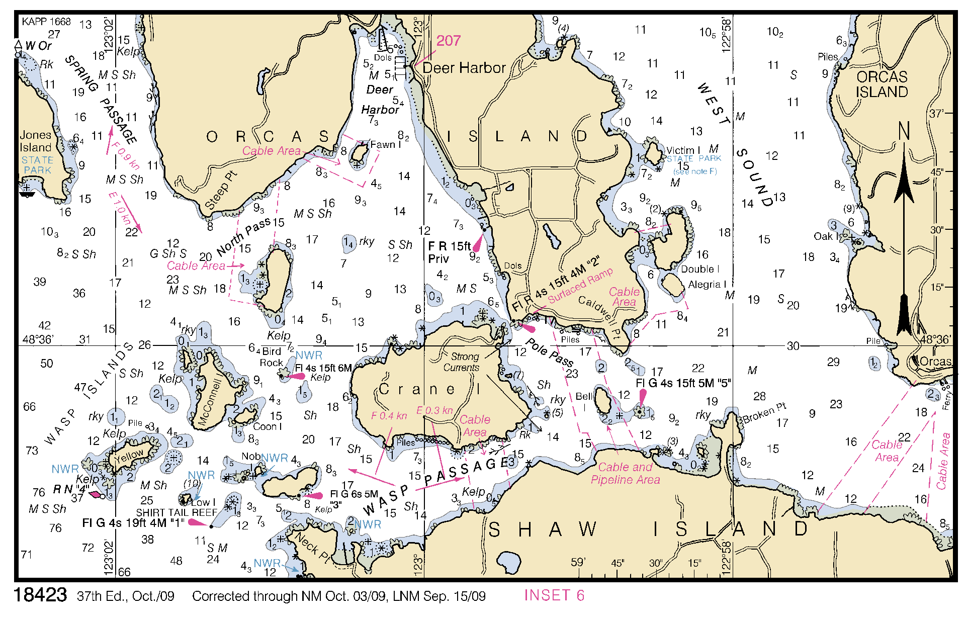 Nautical Map Of The  Islands