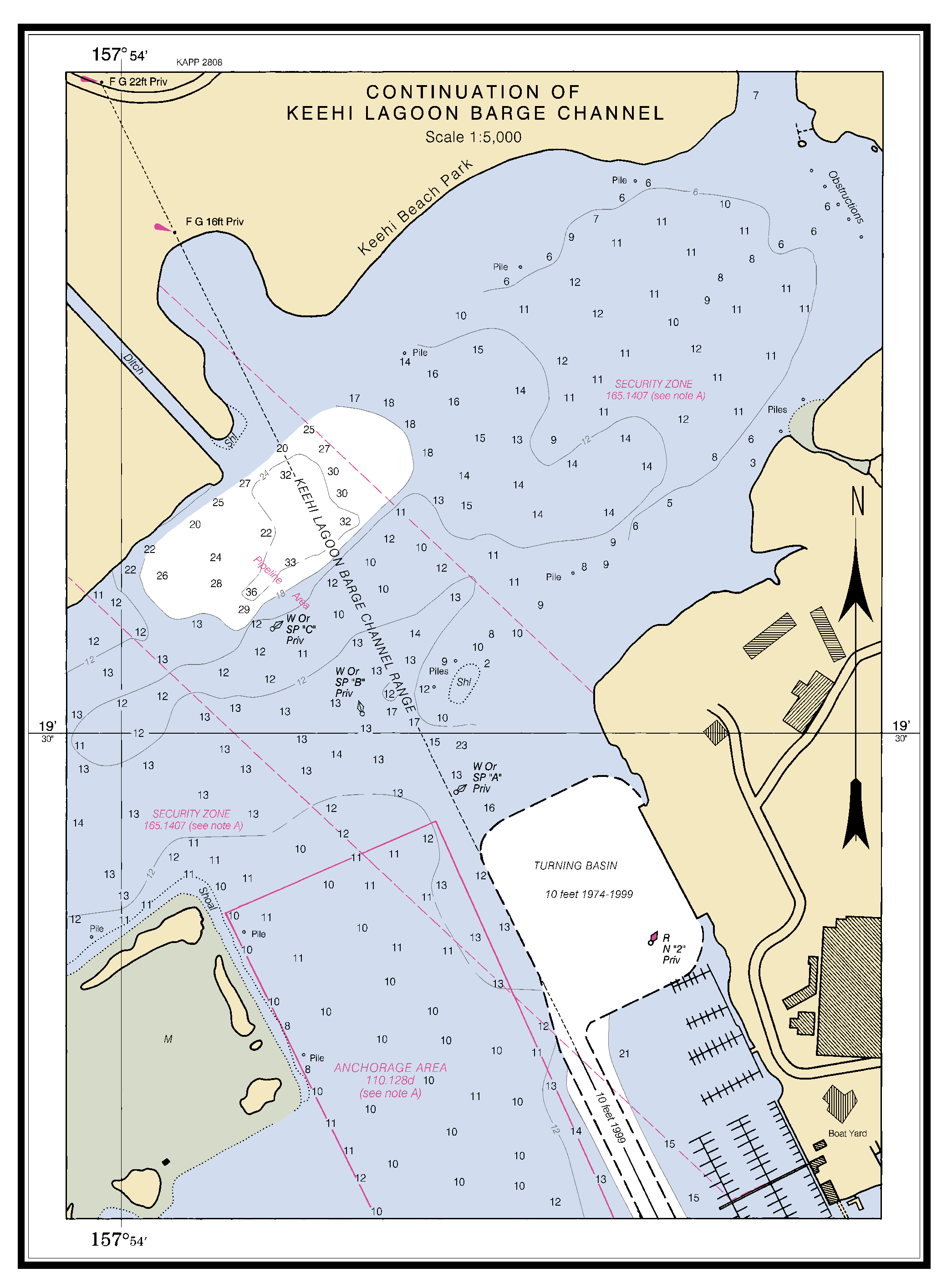 ... OF KEEHI LAGOON BARGE CHANNEL nautical chart - ΝΟΑΑ Charts - maps