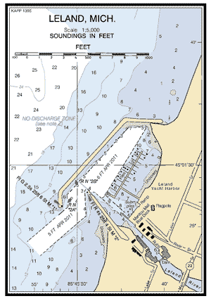 LELAND MICHIGAN Nautical Chart   Charts  Maps