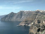 Thira, Thirasia, Volcanic Caldera, Santorini, Greece photo